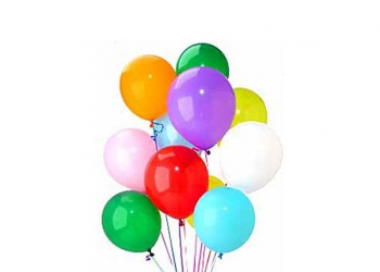 Multi-Coloured Latex Helium Balloons