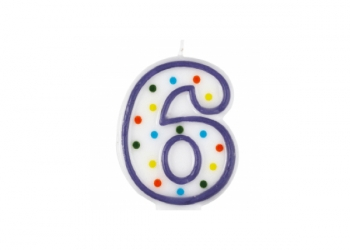 Numbered birthday candle